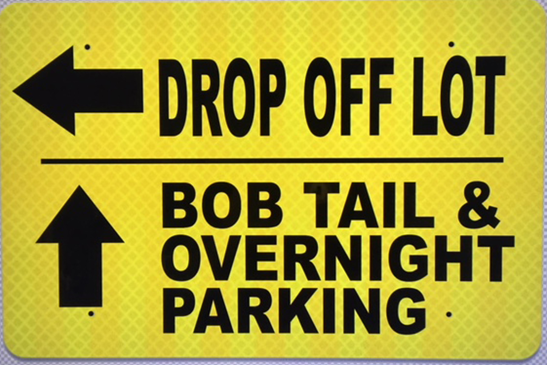 directional facility sign