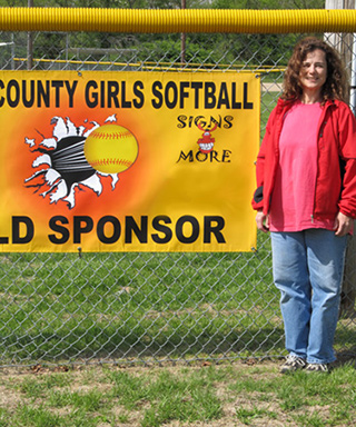 Girls Softball Custom Banner